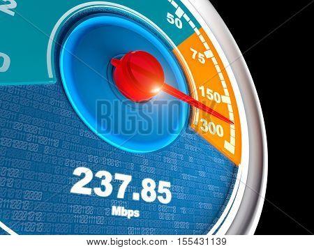 internet connection speedometer 3d rendering