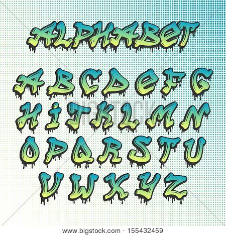 Hand drawn grunge font paint symbol design set. Detailed vector alphabet graffiti grunge font text brush graphic ink. Graffiti grunge font style texture typeset dirty art artistic.