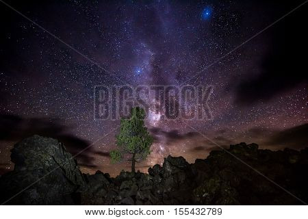 Milky Way Over Craters Of The Moon National Preserve