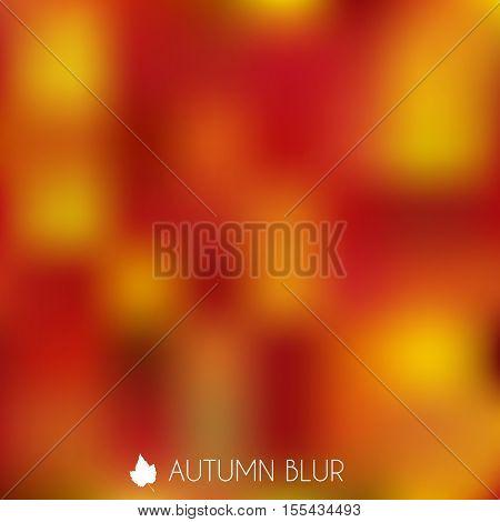 Colorful Autumn Blurry Background Illustration