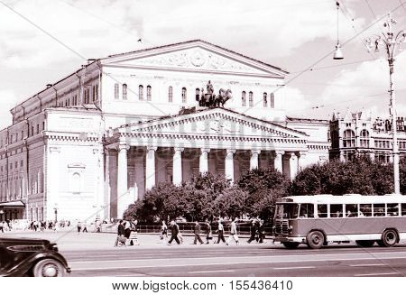 Bolshoi Theatre in Moscow Russia July 1962