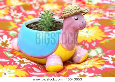 pot for plants a turtle poster
