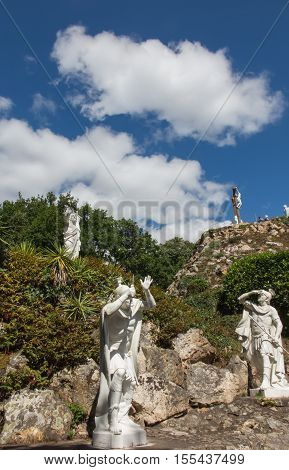 Way of the Cross and Calvary built years ago by St. Louis Monfort in Pontchateau in France