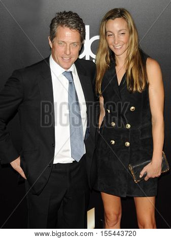 Hugh Grant and Anna Elisabet Eberstein at the 20th Annual Hollywood Film Awards held at the Beverly Hilton Hotel in Beverly Hills, USA on November 6, 2016.