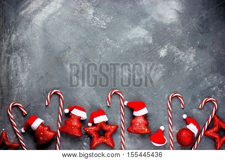 Christmas background with decorations for Christmas tree