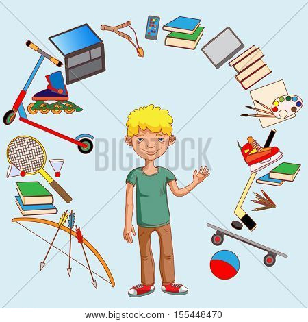 The teenager and his interests, sports, employment, education development