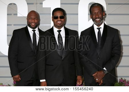 LOS ANGELES - NOV 5:  Boyz II Men, Wanya Morris, Nathan Morris, Shawn Stockman at the 33rd Breeder's Cup World Championship at the Santa Anita Park on November 5, 2016 in Arcadia, CA