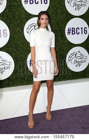LOS ANGELES - NOV 5:  Emily Ratajkowski at the 33rd Breeder's Cup World Championship at the Santa Anita Park on November 5, 2016 in Arcadia, CA