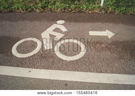 Cyclist Symbol On The Road For Cyclists Only