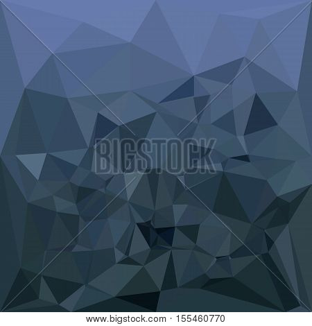 Low polygon style illustration of a medium slate blue abstract geometric background.