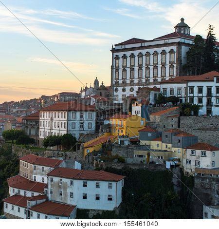 View of the houses in the old Porto, Portugal.