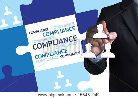 COMPLIANCE REGULATORY COMPLIANCE Business metaphor and technolog poster