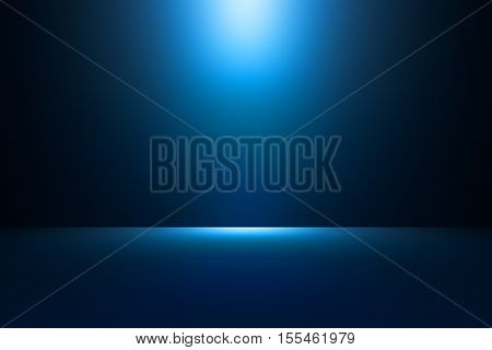 3D illustration background / Abstract blue empty room studio gradient used for background and display your product