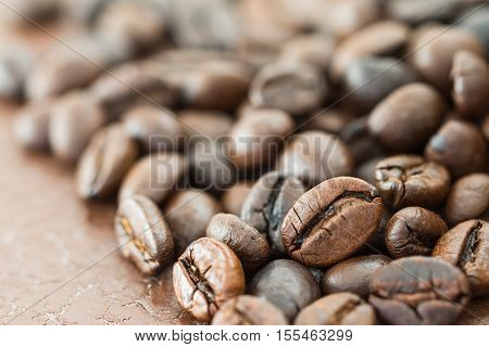 Heap Of Roasted Coffee Bean