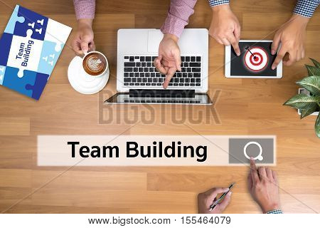 Team Building Partnership Cooperation Casual People and Togetherness