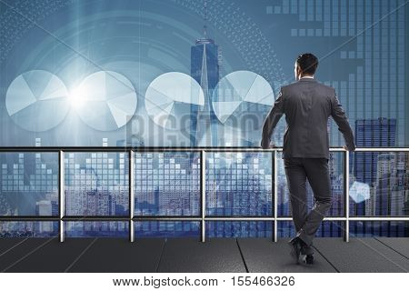 Businessman in stock trading concept