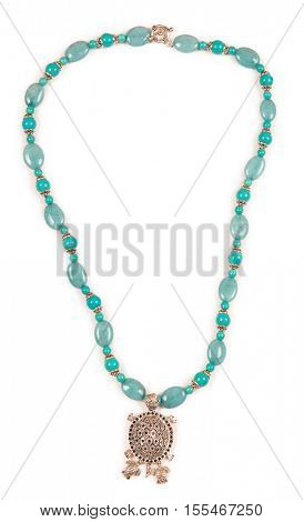 Jewellery necklace isolated on white background
