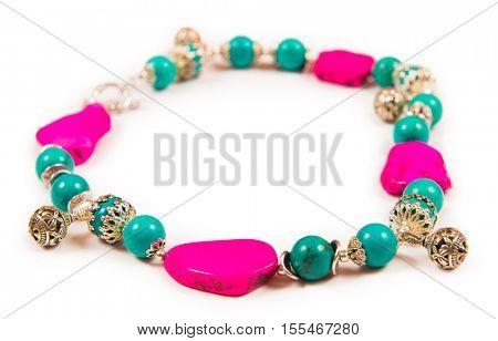 Jewellery bracelet armlet isolated on white background