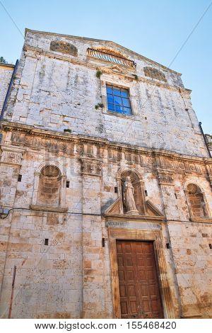 Church of St. Chiara. Acquaviva delle fonti. Puglia. Italy.