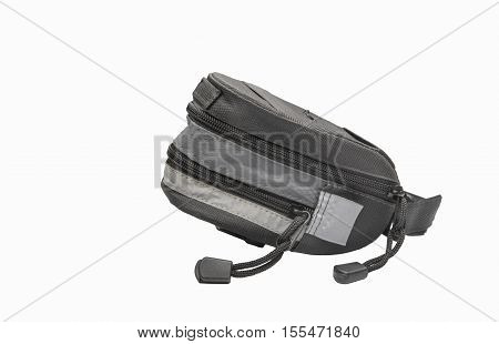 Bike seat pack isolated on a white background