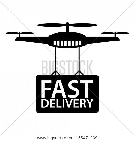 Fast delivery service by a drone.