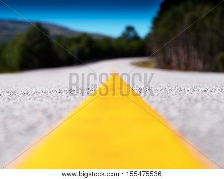 Yellow lane line transportation road background hd