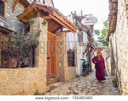 Sirince Greek Village In Turkey.