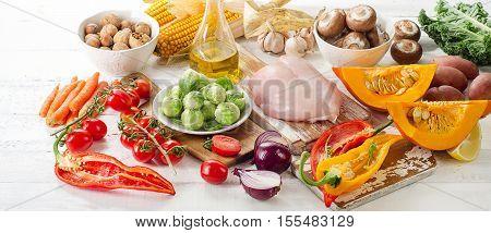 Balanced Diet Concept.