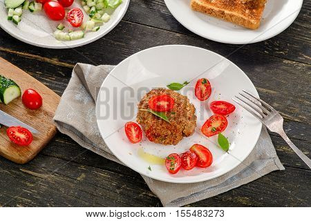 Meatball With Fresh Vegetables
