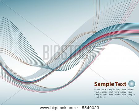 Banner with blue rays and place for your text