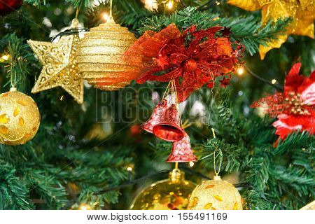 Christmas Tree Decoration with toys new year
