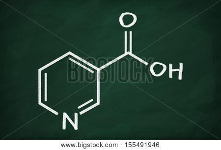 Structural Model Of Vitamin B3 (niacine)
