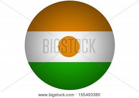 3D Niger flag ,Niger national flag illustration symbol.