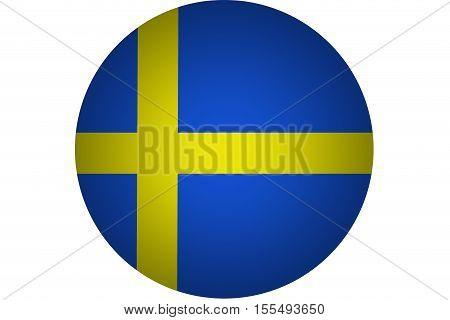 3D Sweden flag ,Sweden national flag illustration symbol.