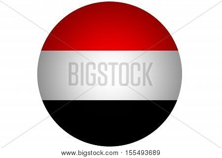 3D Yemen flag ,Yemen national flag illustration symbol.