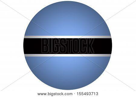 3D Botswana flag ,Botswana national flag illustration symbol.