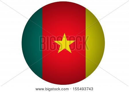3D Cameroon flag ,Cameroon national flag illustration symbol.