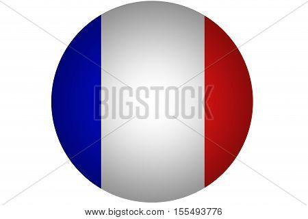3D France national flag illustration symbol .