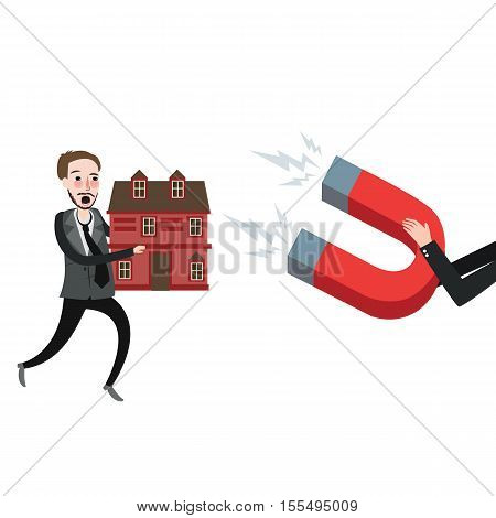 grab home house foreclosure try to defend vector