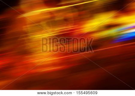 Colorful motion blur background with light streaks