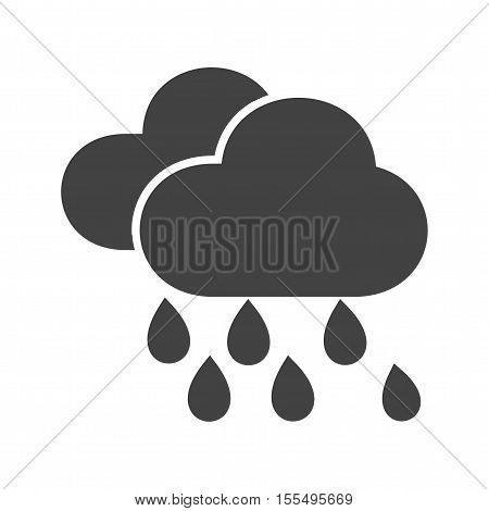 Rain, rainfall, monsoon icon vector image. Can also be used for warning caution. Suitable for use on web apps, mobile apps and print media.