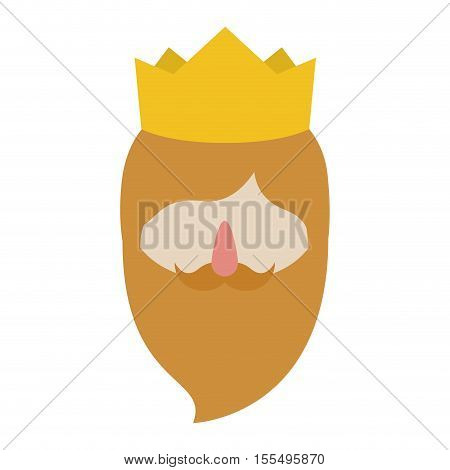 Wiseman cartoon icon. Happy epiphany day holy night and christmas theme. Isolated and colorful design. Vector illustration