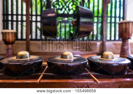 Tradition gong or drum used by indigenous population of Borneo called Kadazan and Dusun.