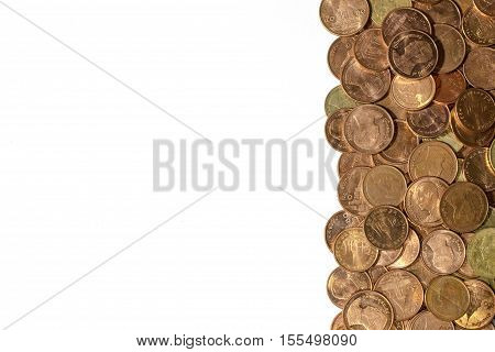 Thai Coin On A White Background.