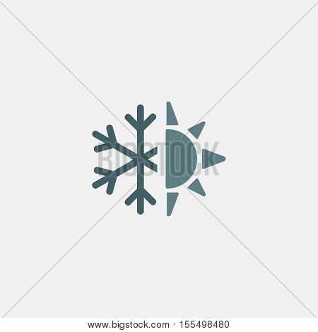 sun snow icon vector. air conditioning icon. winter and summer icon.