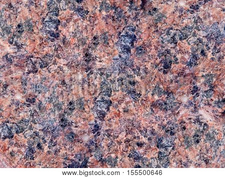 red granite texture macro photo