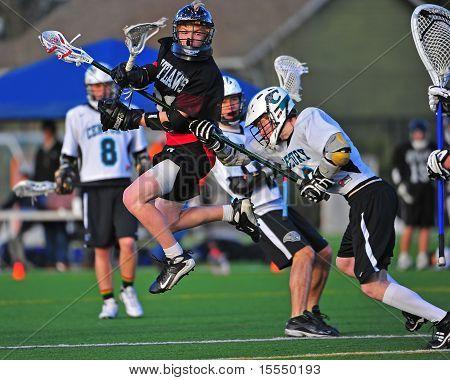 Boys Lacrosse Sisters HS Shot on goal