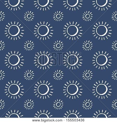 Set of blue and white vector seamless pattern. Scrapbook design elements. Abstract hand drawn fabric texture. Simple wrapping. Summer ornament backdrop