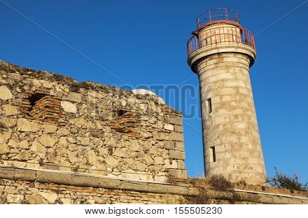 Lighthouse in Antibes. Antibes Provence-Alpes-Cote d'Azur France.