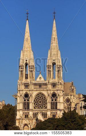 Saint-Vincent-de-Paul Church in Marseille. Marseille Provence-Alpes-Cote d'Azur France.